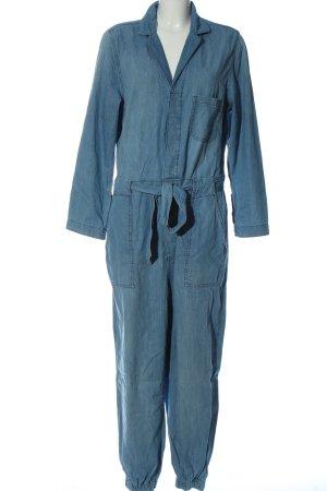 & DENIM Langer Jumpsuit blauw casual uitstraling