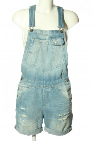 & DENIM Pantaloncino con bretelle blu stile casual