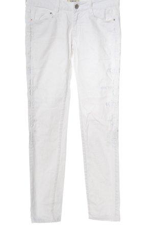 Denim life by pimkie Jeansy biodrówki biały W stylu casual