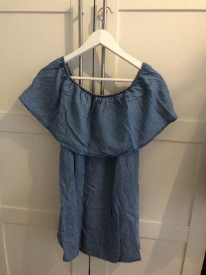 Denim Minikleid mit Off-Shoulder Schnitt