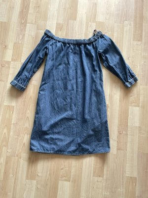Denim Offshoulder jeanskleid