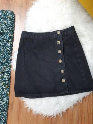Asos Jeansowa spódnica czarny