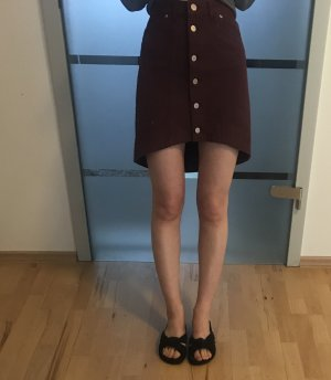 Asos Denim Denim Skirt bordeaux