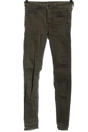 & DENIM Tube jeans khaki casual uitstraling