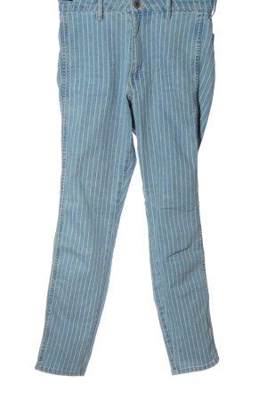 & DENIM Jeans cigarette bleu motif rayé style décontracté