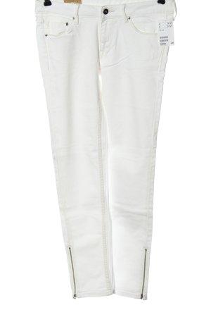 & DENIM Jeans a sigaretta bianco elegante