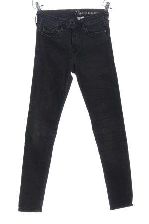 & DENIM Tube jeans zwart casual uitstraling