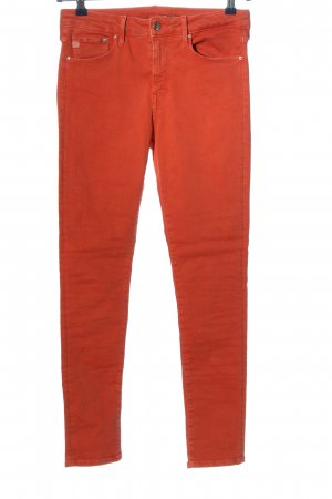 & DENIM Tube jeans rood casual uitstraling
