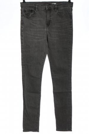 & DENIM Jeans a sigaretta grigio chiaro stile casual