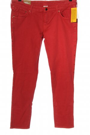 & DENIM Jeans skinny rosso stile casual