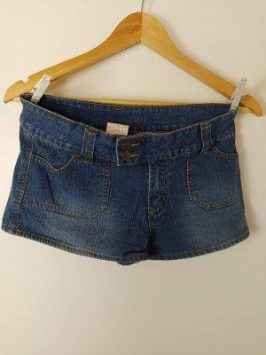 Denim Shorts mittelblau used, kurz, Gr. 36