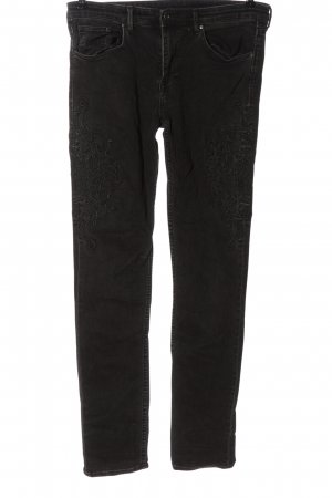 & DENIM Skinny Jeans schwarz Casual-Look