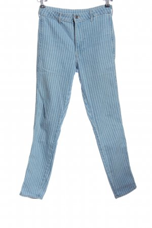 & DENIM Jeans skinny blu motivo a righe stile professionale