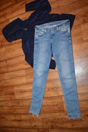 Denim Skinny Jeans Gr. 38 von H&M
