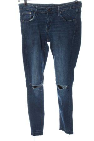 & DENIM Slim jeans blauw casual uitstraling