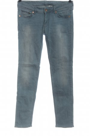 & DENIM Vaquero slim azul look casual