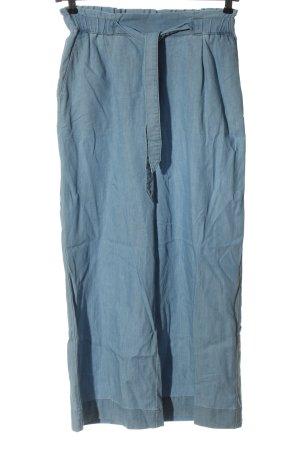 & DENIM Pantalon en jersey bleu style décontracté