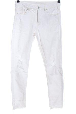 & DENIM Straight-Leg Jeans weiß Casual-Look