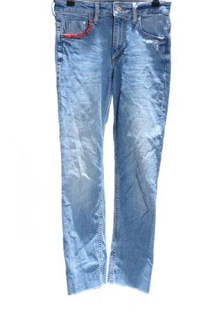 Jeans met rechte pijpen blauw casual uitstraling