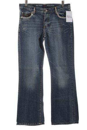 Denim Studio Straight-Leg Jeans graublau Casual-Look