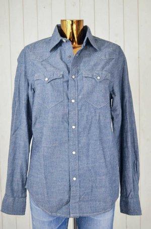 Denim & Supply Ralph Lauren Damen Hemd Bluse Jeanshemd Denim Blau-Grau Gr. S/P