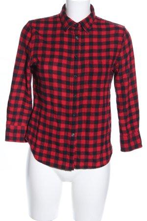 Denim & Supply Ralph Lauren Holzfällerhemd rot-schwarz Allover-Druck