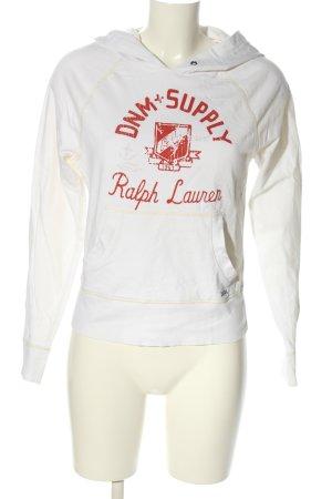 Denim & Supply Ralph Lauren Sweatshirt met capuchon wit-rood casual uitstraling