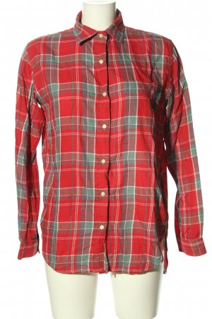 Denim & Supply Ralph Lauren Checked Blouse red-light grey allover print
