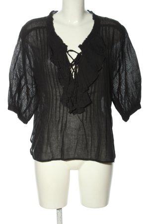 Denim & Supply Ralph Lauren Tunikabluse schwarz Elegant