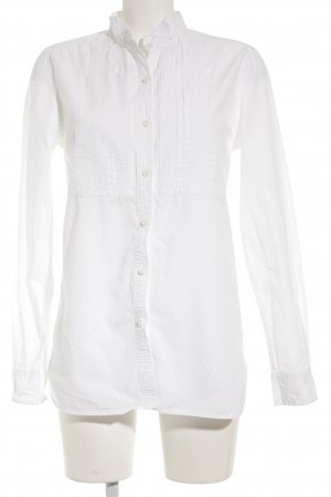 Denim & Supply Ralph Lauren Langarm-Bluse weiß-wollweiß Elegant