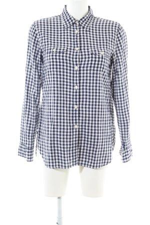 Denim & Supply Ralph Lauren Langarmhemd schwarz-weiß Allover-Druck