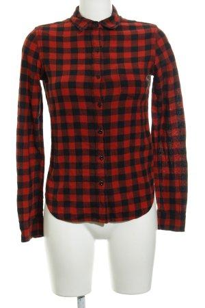 Denim & Supply Ralph Lauren Langarmhemd schwarz-rot Karomuster Casual-Look