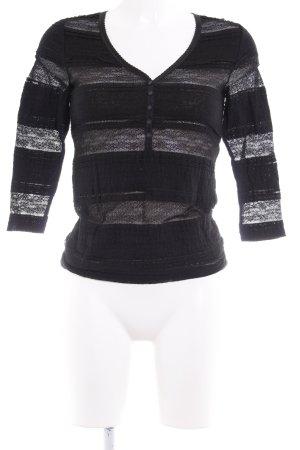 Denim & Supply Ralph Lauren Camisa de malla negro look gótico