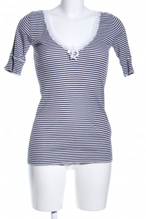 Denim & Supply Ralph Lauren Camisa acanalada negro-blanco estampado a rayas