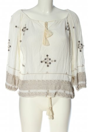 Denim & Supply Ralph Lauren Schlupf-Bluse weiß-wollweiß grafisches Muster