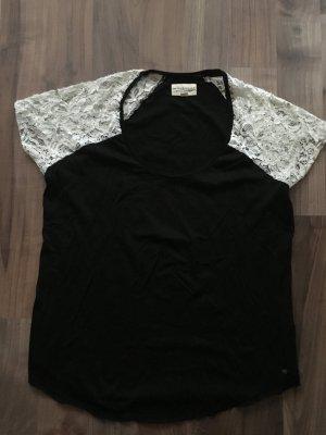Denim & Supply Ralph Lauren Shirt mit Spitze und aufgenähten Perlen, Stickerei Gr. XL, NEU und ungetragen