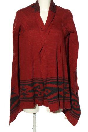 Denim & Supply Ralph Lauren Strick Cardigan rot-schwarz grafisches Muster