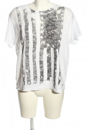 Denim & Supply Ralph Lauren T-Shirt white-light grey themed print casual look