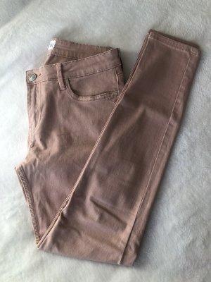 Mango Pantalón de cinco bolsillos nude