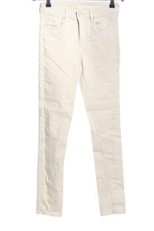 & DENIM Treggings blanco look casual