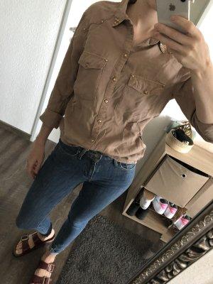 Denimbluse mit Nieten von H&M