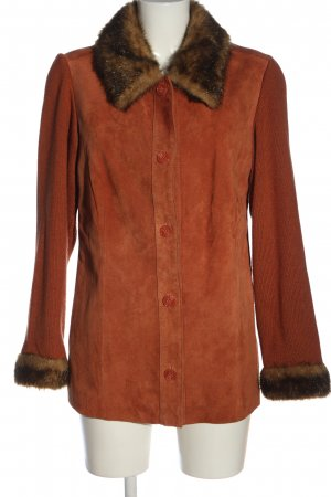 Dennis Basso Fake Fur Coat light orange-brown casual look