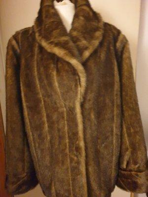 Dennis Basso Fake Fur Jacket brown-dark brown