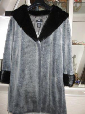 Dennis Basso Manteau en fausse fourrure gris-noir acrylique