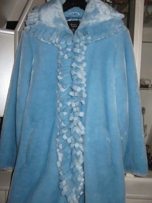 Dennis Basso Veste en fausse fourrure bleu clair-bleu clair polyester
