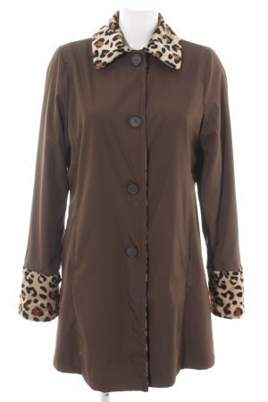 Dennis Basso Reversible Jacket bronze-colored-cream leopard pattern