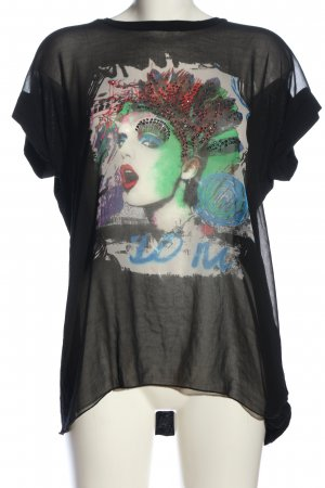 Denny Rose Sleeveless Blouse themed print casual look