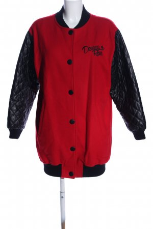 Denny Rose College Jacket red-black quilting pattern casual look