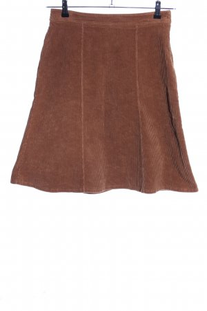 Denny Rose Flared Skirt brown casual look