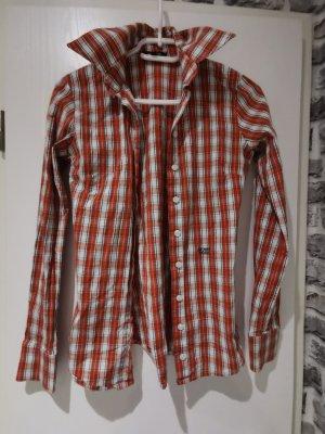 Denny Rose Shirt Blouse brick red-white mixture fibre